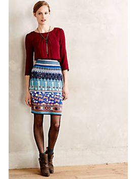 llama-line-sweater-skirt by monogram