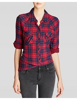 kendra-plaid-top by rails