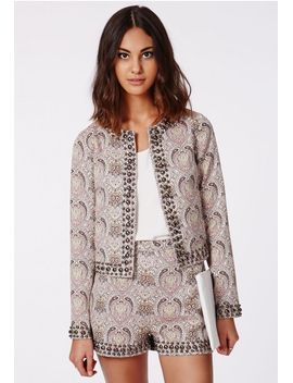 lillie-paisley-studded-cropped-blazer by missguided