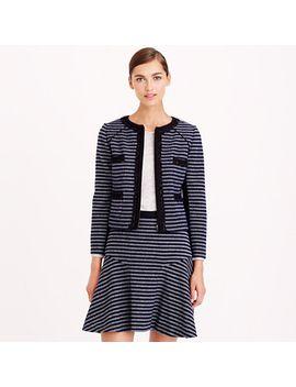 cropped-jacket-in-stripe-tweed by jcrew