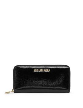 jet-set-travel-patent-leather-wallet by michael-kors