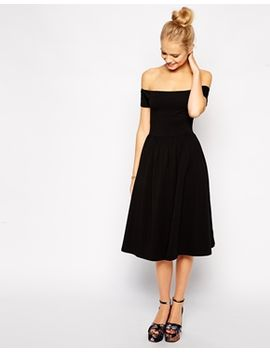 asos-bardot-midi-skater-dress by asos