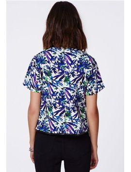 marchelina-floral-print-pu-piping-shell-top by missguided