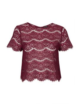scallop-lace-tee by topshop