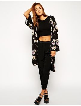 asos-premium-maxi-kimono-in-floral-print by asos-collection