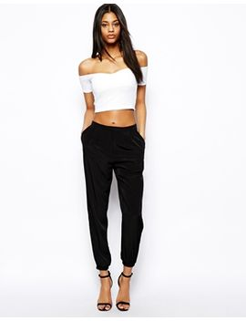 asos-tailored-trouser-with-ankle-detail by asos-collection