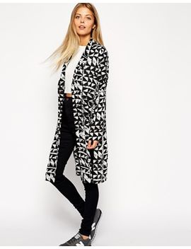 asos-mono-printed-duster-kimono by asos-collection