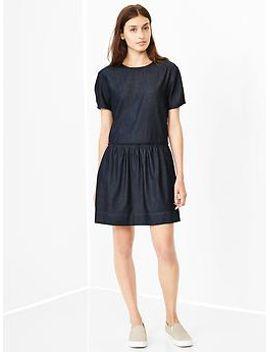 chambray-drop-waist-dress by gap