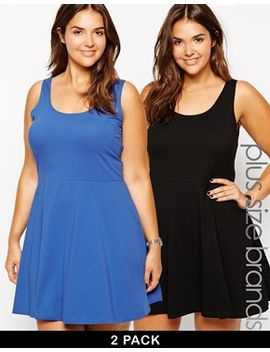 new-look-curve-2-pack-skater-dress by new-look-inspire