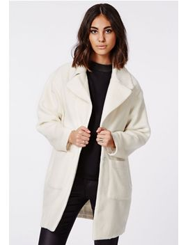 lena-cocoon-coat-cream by missguided