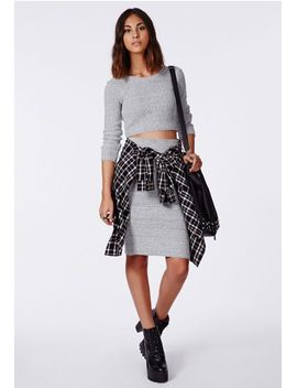 madelynn-knit-midi-pencil-skirt-grey by missguided