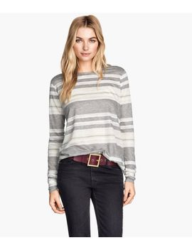 jersey-top-with-lace by h&m