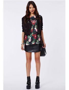magnifique-floral-slogan-t-shirt by missguided