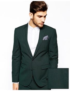 asos-slim-fit-suit-jacket-in-dark-green by asos