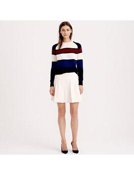 box-pleat-skirt-in-crepe by jcrew