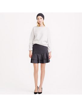 flounce-skirt-in-bonded-wool by jcrew