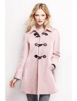 womens-petite-basketweave-wool-toggle-coat by lands-end