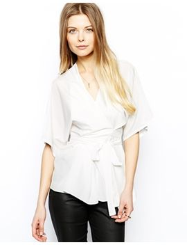 asos-top-with-obi-wrap by asos-collection
