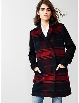 festive-plaid-car-coat by gap
