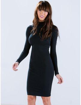 black-long-sleeve-sheath-dress by sheinside