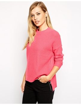 whistles-bea-jumper-in-cashmere-mix-with-zip-back by whistles