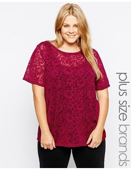 new-look-curve-floral-paisley-print-burnout-t-shirt by new-look-inspire