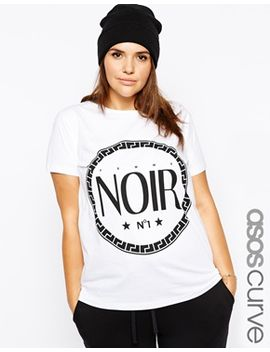 asos-curve-exclusive-t-shirt-with-noir-print by asos