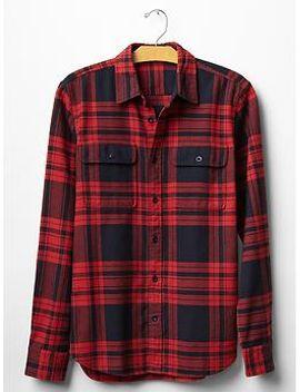 heavyweight-flannel-market-plaid-shirt by gap