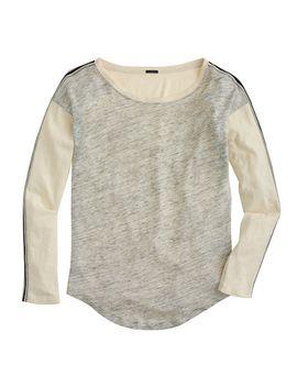 side-stripe-colorblock-baseball-t-shirt by jcrew