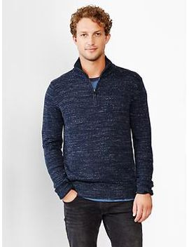marled-half-zip-mockneck-sweater by gap