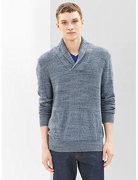 marled-shawlneck-sweater by gap