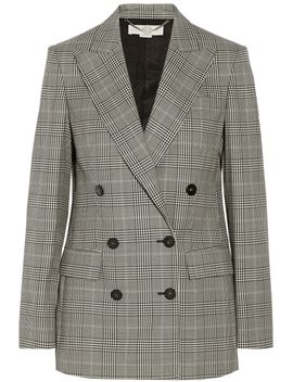 prince-of-wales-check-stretch-wool-double-breasted-blazer by stella-mccartney