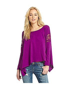 chelsea-&-violet-crochet-sleeve-top by generic