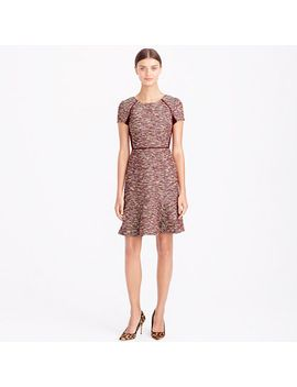 mixed-tweed-dress-in-metallic by jcrew
