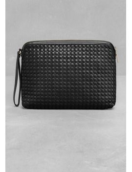 embossed-leather-clutch by &-other-stories