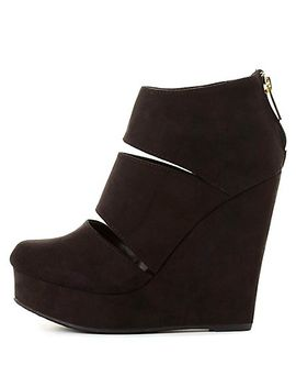 slit-platform-wedge-booties by charlotte-russe