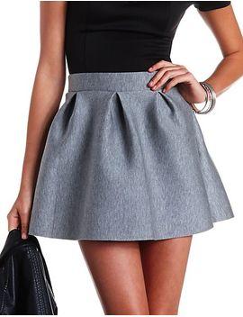 pleated-neoprene-skater-skirt by charlotte-russe