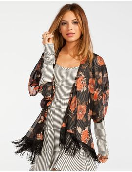lottie-&-holly-floral-womens-fringe-kimono by tillys