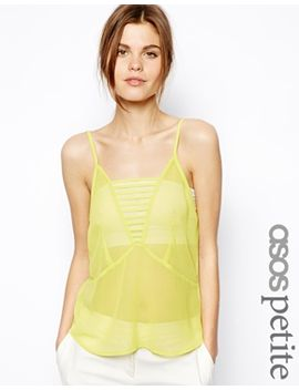 asos-petite-exclusive-cami-with-sheer-mesh-inserts by asos-petite