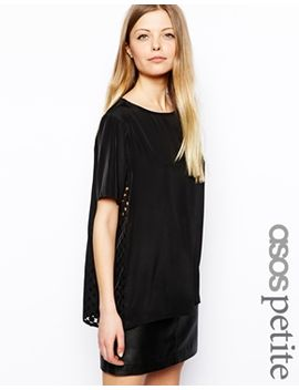 asos-petite-exclusive-t-shirt-with-laser-cut-sides by asos-petite
