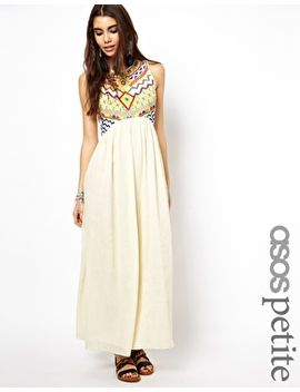 asos-petite-exclusive-maxi-dress-with-embroidered-aztec-detail by asos