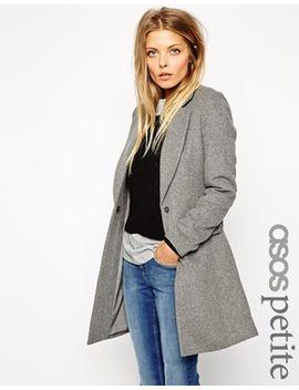 asos-petite-exclusive-slim-coat-in-soft-texture by asos