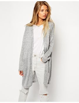 asos-longline-knitted-look-cardigan by asos-collection