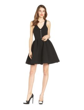 black-sleevless-zip-front-royce-dress by minkoff