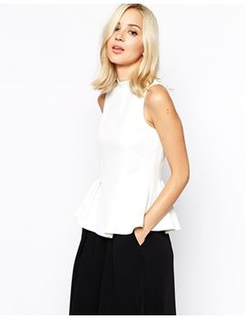 river-island-textured-top-with-peplum by river-island