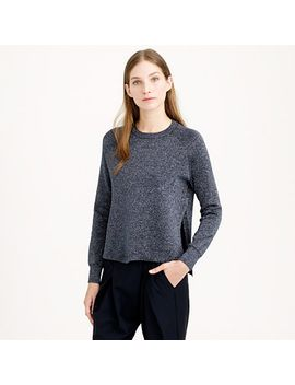 sparkle-side-slit-sweater by jcrew