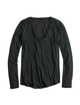long-sleeve-prima-jersey-t-shirt by jcrew