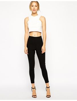 asos-high-waisted-skinny-crop-pants by asos-collection