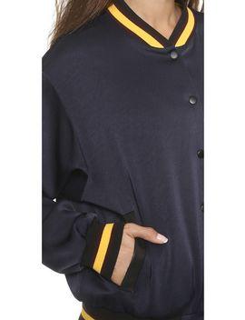satin-varsity-jacket by dkny-x-cara-delevingne
