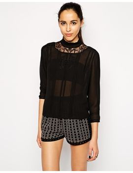 cynthia-vincent-embroidered-blouse-with-high-neck by top